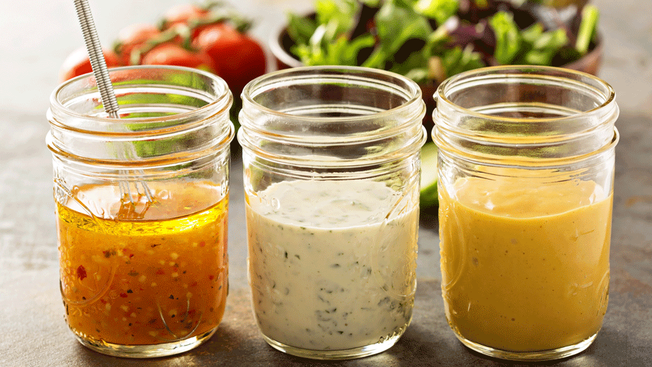 dips and dressing for salads made in a blender