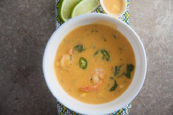 Bowl Of Thai Corn Chowder