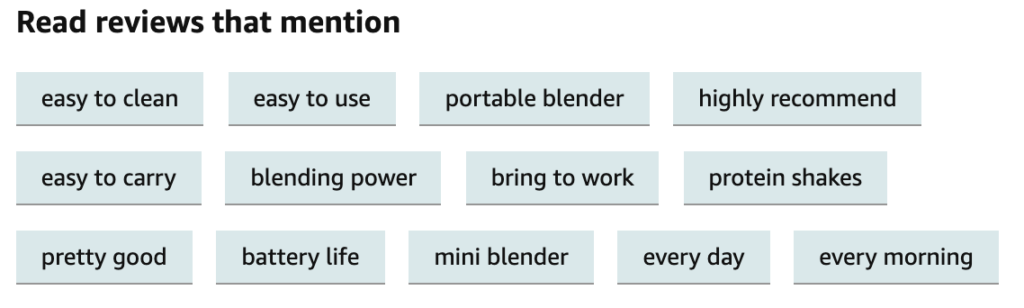 LOZAYI Portable Blender Camping Word Cloud