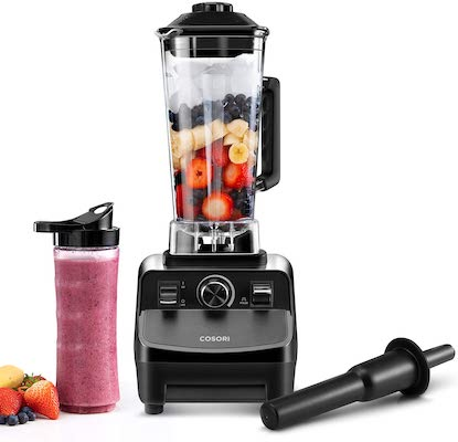 1400W Heavy Duty Professional Blender For Crushing Ice, Frozen Fruit with 64oz Pitcher 20Oz Travel Bottle